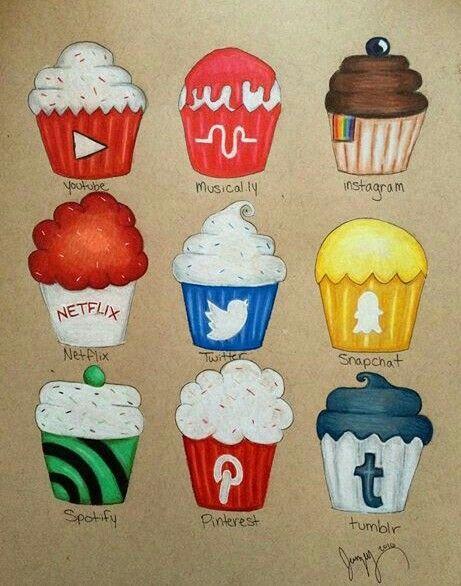 Cupcake social media !                                                                                                                                                                                 Más                                                                                                                                                                                 Más