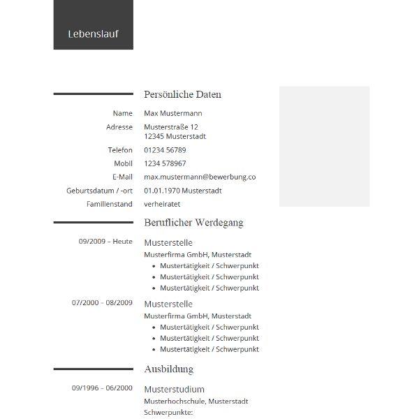 Pin Von Job Resume Auf Job Resume Samples: Lebenslauf Beispiel Für Die Bewerbung