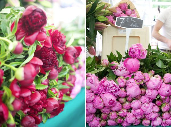 It's Peony season in Paris. Can you just imagine the beautiful French flower markets with piles of these beautiful flowers? I love peonies!
