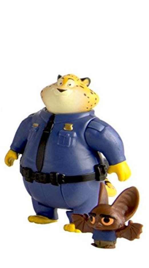 TOMY Zootopia Movie Character Pack Clawhauser And Bat Eyewitness Toy Figures New #TOMY