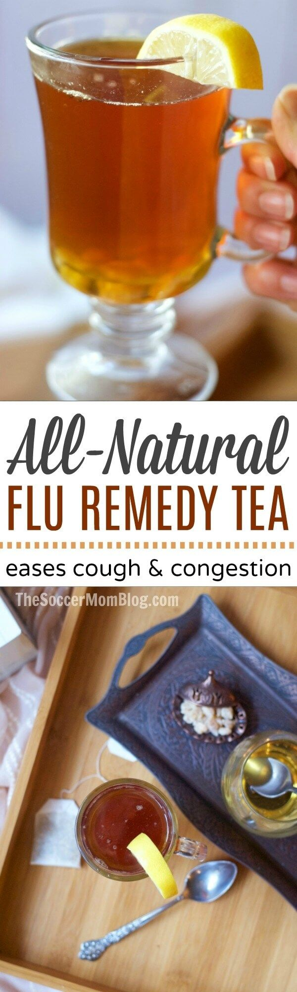 This soothing flu fighting tea is a simple, effective home remedy for easing seasonal cold and flu symptoms. Ready in minutes & tastes amazing! #ConquerTheCold #ad #recipe