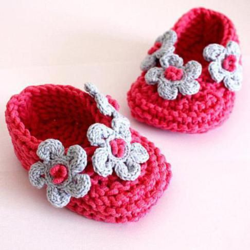 Baby+Crochet+Patterns+for+Beginners | Crochet Baby Shoes Pattern