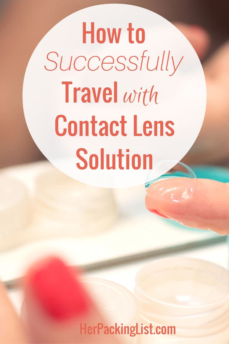 how to travel with contact lens solution