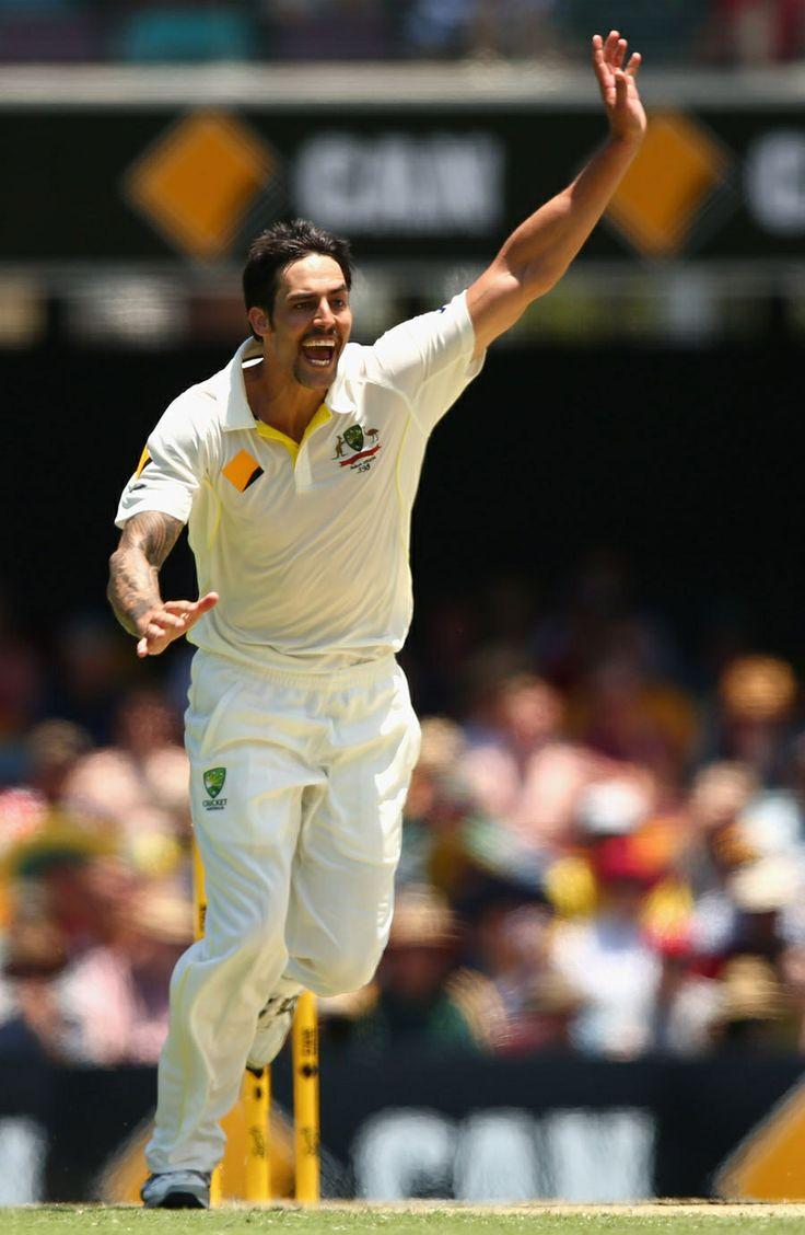 55-2.  Mitchell Johnson struck immediately before lunch, Australia v England, 1st Test, Brisbane, 2nd day, November 22, 2013