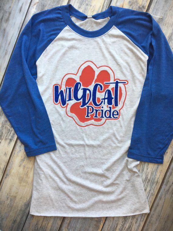 39744206a Wildcat Pride, School Spirit Raglan | Products | School spirit ...