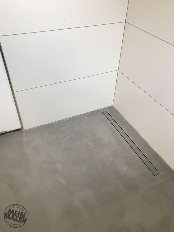 frischer lack fugenlose dusche in betonoptik - Fugenlose Dusche Material