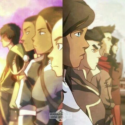 Team Avatar Aang and Team Avatar Korra