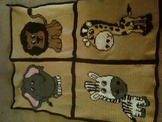 Crocheted Safari Baby Blanket that I created