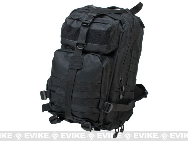 VISM Small Tactical Backpack - Black, Tac. Gear/Apparel, Back / Hydration Pack - Evike.com Airsoft Superstore