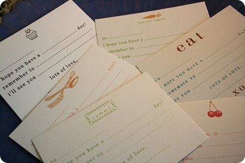 lunch box notes...printables