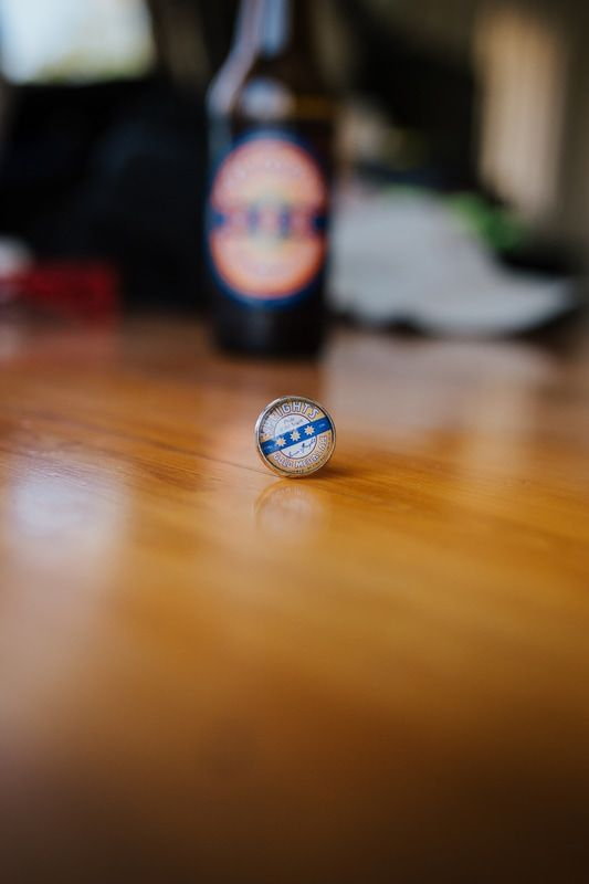 Customise his cuff-links with his favourite beer!  Groom fashion / wedding fashion