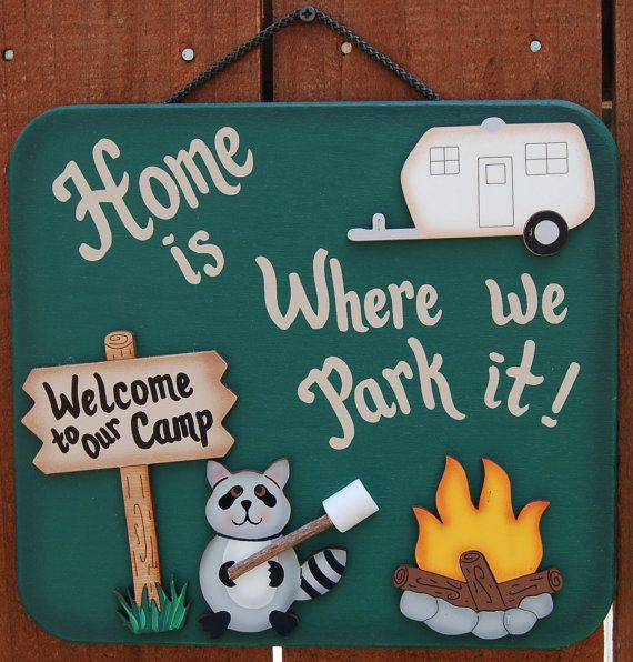 Outdoor Camping Sign  RV Sign by UniquelyCraftedSigns on Etsy, $19.95