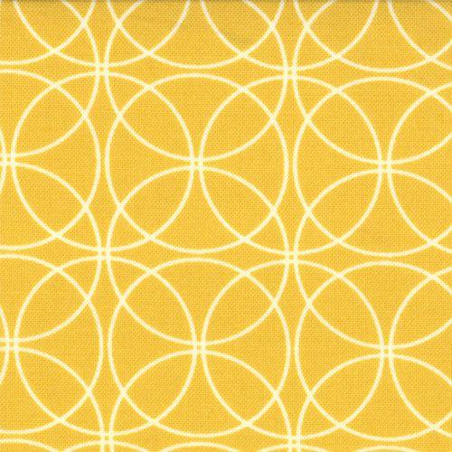 Half Yard Swinging in Mustard, Brigitte Heitland, Zen Chic, Moda Fabrics, 100% Cotton Fabric on Etsy, $5.00