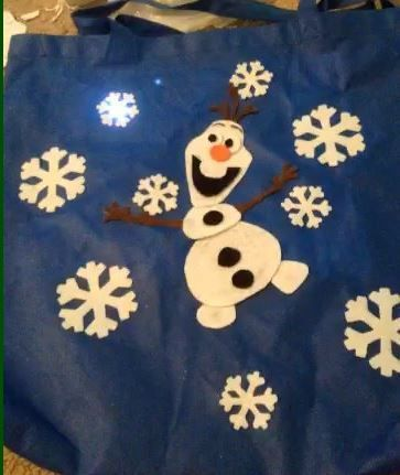 Singing Olaf Bag with LilyPad Arduino #soft_circuits #Frozen