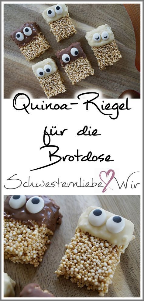 Kinderessen // Lustige Quinoa-Riegel für die Brotdose – Andrea terme