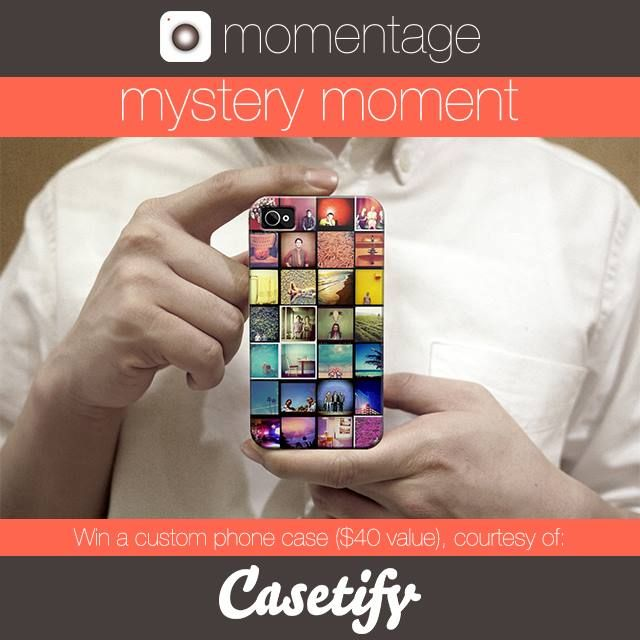 We're super excited to have Casetify sponsoring this weeks Mystery Moment #contest! #Casetify is giving the winner a chance to #design a #custom #phonecase through their app. Its easy to do - pick your #style, layout and load your #photos right from your #phone. See you Sunday at 9 pm EST on #Momentage and good luck!  Read more about Casetify here: http://bit.ly/1w2lTvV