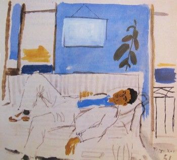 Illustration Cavafy, painted in an English edition of 1951, London by Yannis Tsarouchis.