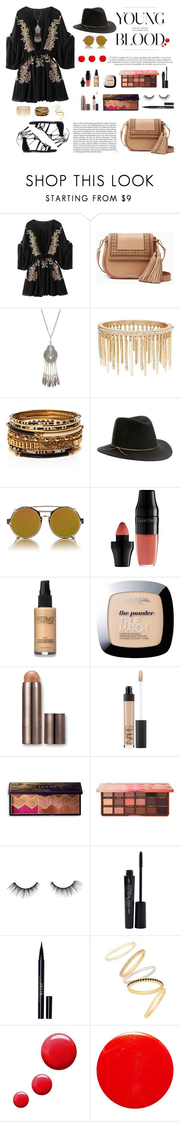 """Coachella #1"" by taniawaspodo ❤ liked on Polyvore featuring Kate Spade, Jenny Packham, Amrita Singh, Eugenia Kim, Finlay & Co., Whiteley, Lancôme, L'Oréal Paris, Laura Mercier and NARS Cosmetics"