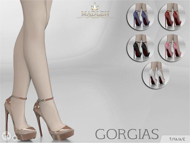 Sims 4 CC's – The Best: Madlen Gorgias Shoes von MJ95   – Sims 4 CC's – The Best