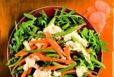 fagiolini e carote con rucola