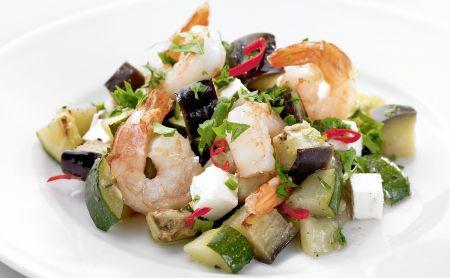 Görög rákfarok rakott zöldségekkel