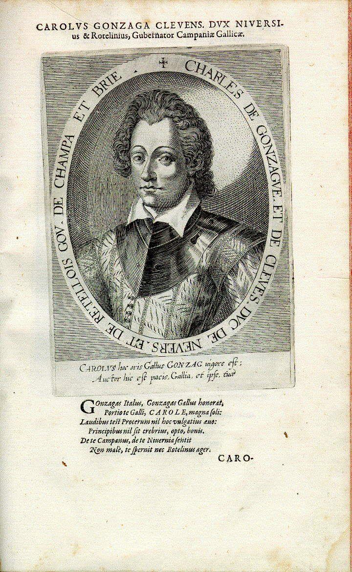 Charles de Gonzague, Herzog von Rethel und Nevers (1580-1637), Offizier, Diplomat