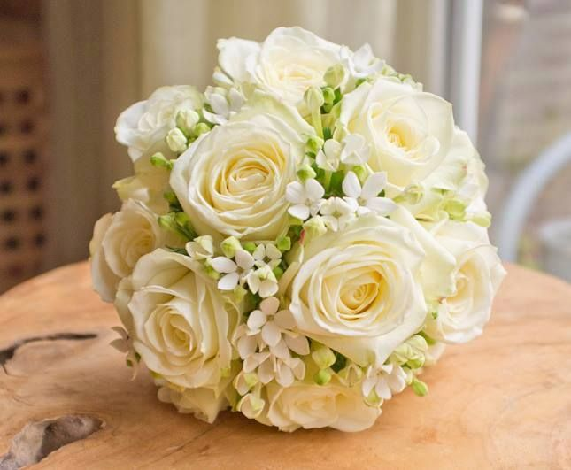 A June wedding this year - a white bouquet full of the one & only Avalanche!