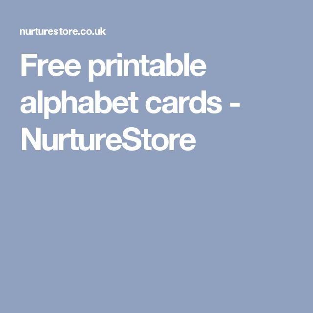 Free printable alphabet cards - NurtureStore