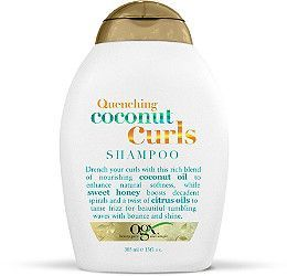 OGX Quenching Coconut Curls Shampoo Lavishes your curls with a rich blend of nourishing coconut oil to enhance the natural softness, while sweet honey boosts decadent spirals and a twist of citrus oils tames frizz for beautiful tumbling waves with bounce and shine. This rejuvenating blend of luxurious coconut and citrus oils combined with sweet honey to defrizz, hydrate and bring out your best curl days every day.