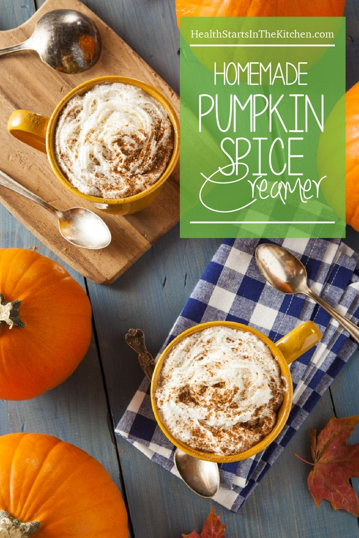 Homemade Pumpkin Spice Creamer, made with healthy, all-natural ingredients. Paleo, Primal, Vegan & Low-Carb Friendly
