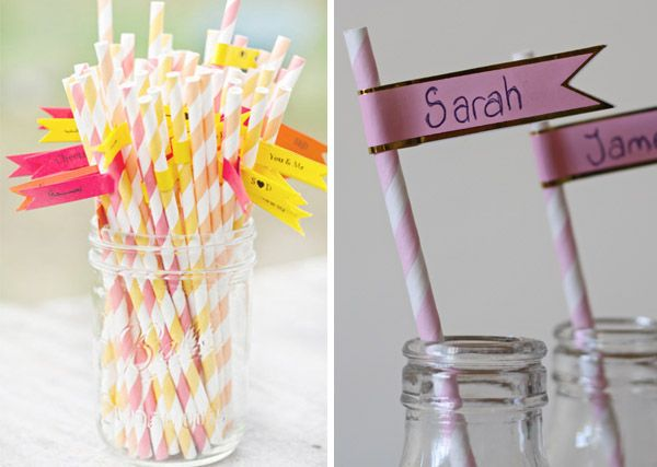 Flags For Paper Straws At Weddings