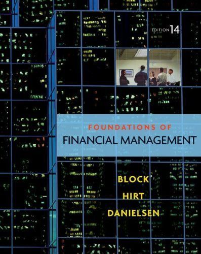Foundations of Financial Management, 14th Edition