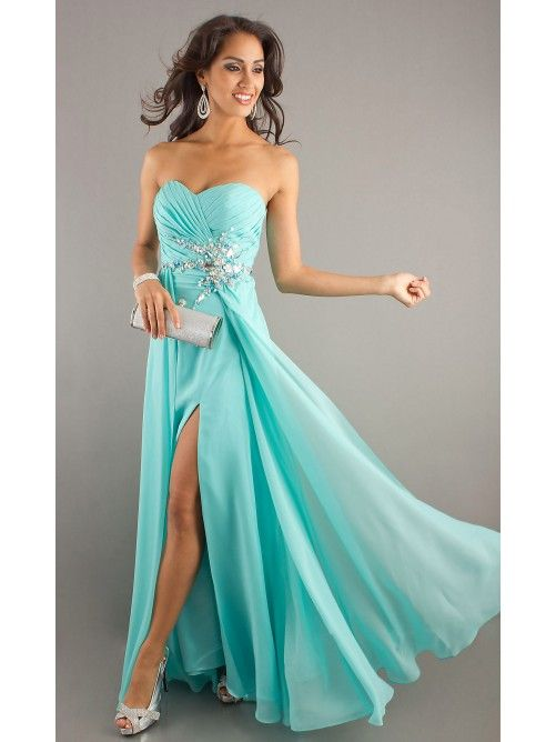 new long sweetheart chiffon beaded formal prom evening ball dresses wedding gown