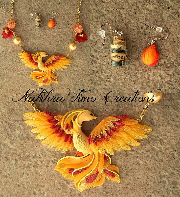 Phoenix Polymer Clay (so adding to my list of charms I wanna make! )