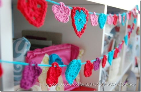 crocheted bunting