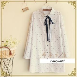 Anchor Print Tie-Neck Shirtdress from #YesStyle <3 Fairyland YesStyle.com