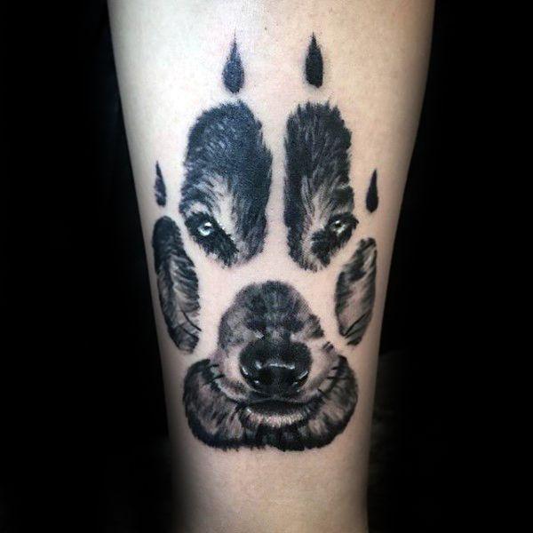 50 Loup Paw Tattoo Designs For Men – Idées d'encre d'animaux – #danimaux #dencr…