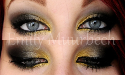 Oooh! I'm excited I have the perfect gold & black to do this! (Mine is MAC though!!)