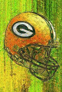 Green Bay Packers Painting - Green And Gold by Jack Zulli