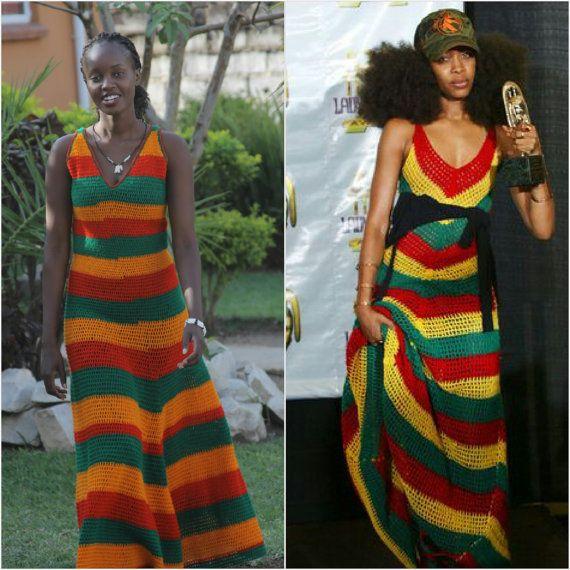 Erykah Badu geïnspireerd Multi-Color Jamaicaanse door TribalLivity