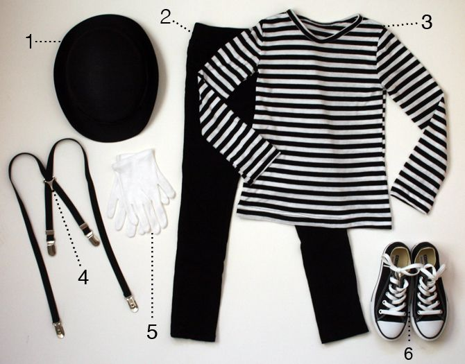 mime costumes for boys | mime costume supplies