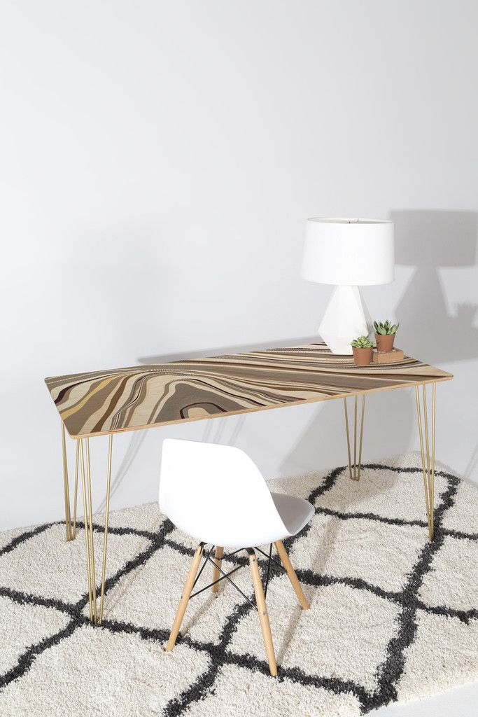 $399 Jacqueline Maldonado Marble Neutral Desk | DENY Designs Home Accessories