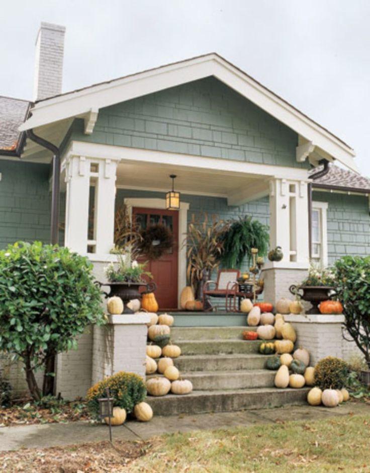 Bungalow Home Exterior Design Ideas: Best 25+ Green Exterior Paints Ideas On Pinterest