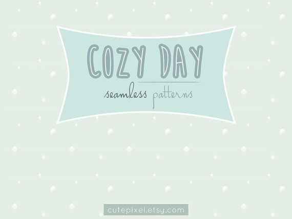 4 COZY DAY seamless patterns cloud snow star moon by cutepixel, $4.00