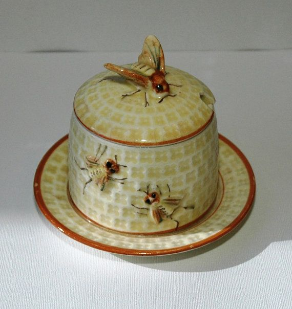 vintage bee hive honey jar. I had a friend who collected honey jars and they were wonderful in his kitchen.