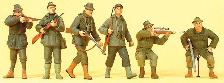 Preiser 10552 Jäger mit Gewehren | 6 Figuren | Spur H0 | Online kaufen bei Modellbau Härtle