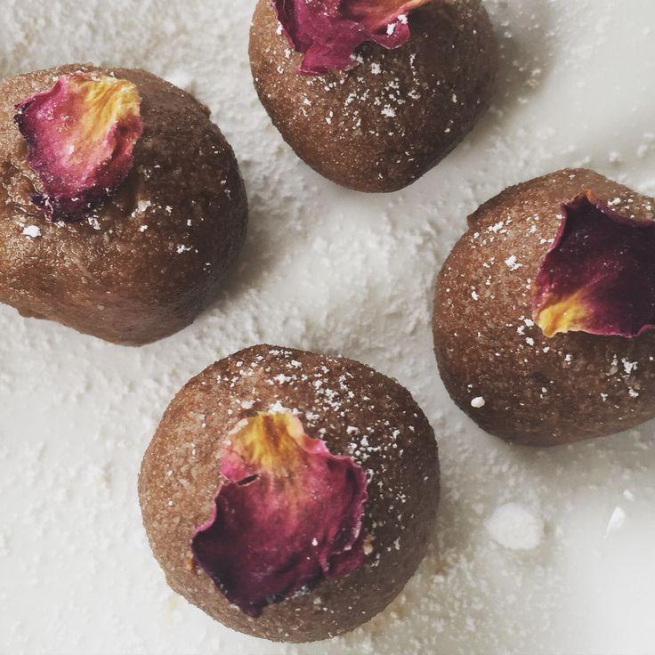 Rose chocolate truffles