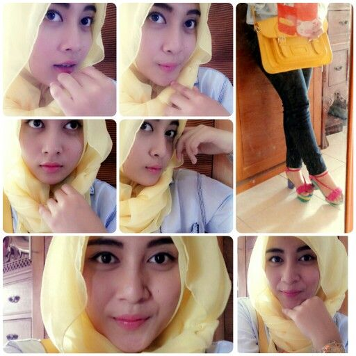 yellow paris hijab