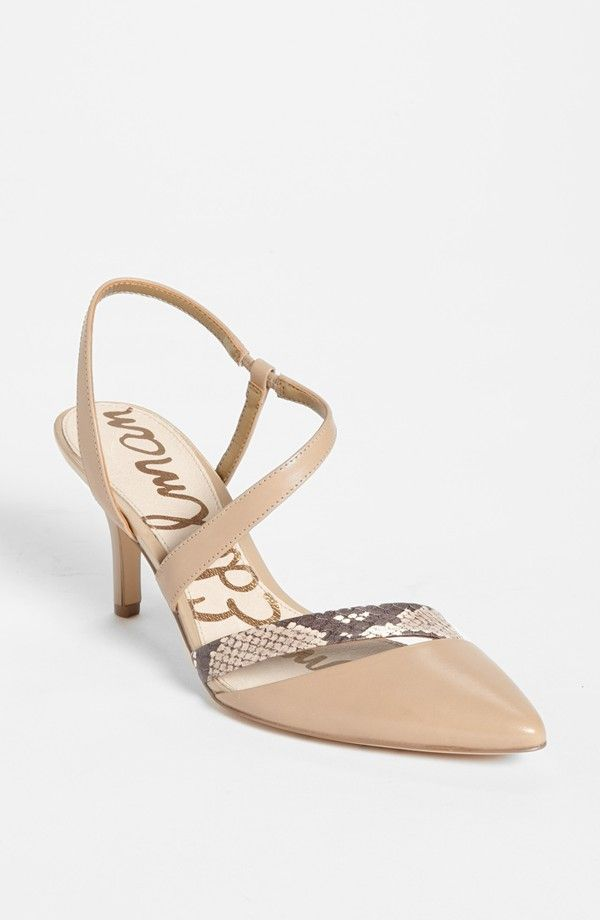 Nude Taupe Low Heel Pump