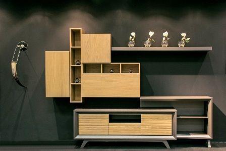 Casa Ampia-Unit Francis- έπιπλο tv - καθιστικό-διακόσμηση σαλονιού-ξύλο Δρυός